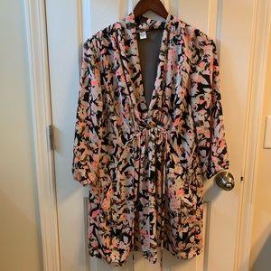 Neon floral print dress